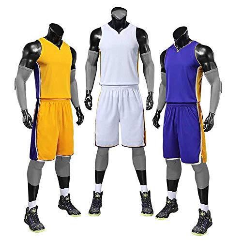 DDSC Baloncesto Uniformes James Lakers Jersey 23, Traje de Pelota de Partido Estampado Personalizado Impreso Traje de Baloncesto Traje Masculino Sudadera -Ropa De Jersey Custom made-4X-Large