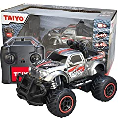 RACING FUN: realistic 1: 40 scale, 2 wheel drive, great for any child or adult ready to run fast on the road or off-road. Start, stop, forward, back, left right, stunt action. COMPLETE KIT: Set includes remote control truck, handset, packaged in a co...