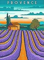 プロヴァンスフランスラベンダー畑、ブリキサインヴィンテージ面白い生き物鉄の絵画金属板ノベルティ