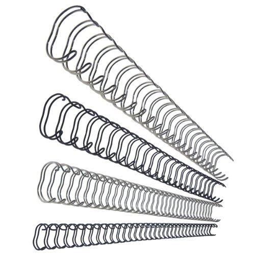 Leitz 27713 Drahtbinderücken, A4, 10 mm, 75 Blatt, 100 Stück, silber