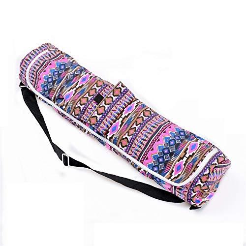 xintian Bolsa de yoga de lona para esterilla de yoga, bolsa de gimnasio, mochila de yoga, pilates, funda de hombro individual para menos de 6 mm (sólo bolsa), camisetas de yoga (color morado)