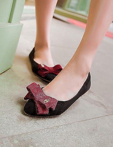 PDX femme Chaussures Talon Plat Bout Pointu Chaussures plates décontracté Noir bleu rouge
