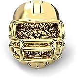 LH&BD Gorilla Anillo Hombre Casco de fútbol Americano Viking Orangutan Big Monkey Hip Hop Biker Amuleto Punk Animal Jewelry,Oro,9