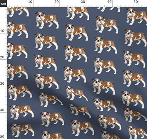 Englische Bulldogge, Bulldogge, Französische Bulldogge, Tara Put, Hund, Welpe Stoffe - Individuell Bedruckt von Spoonflower - Design von Taraput Gedruckt auf Jeansstoff