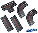 Hot Wheels City Track Pack Bundle, Track Parts Include Straights, Curves, 4-Way Intersection Track Sets