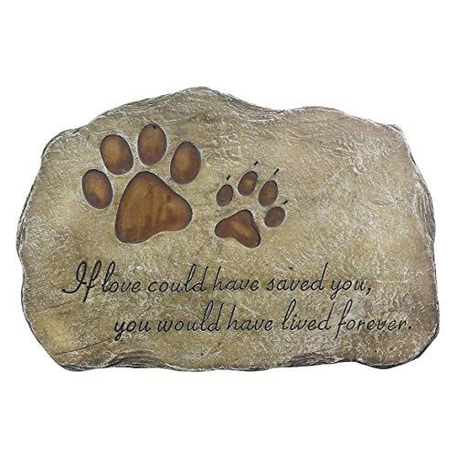 SNOWINSPRING Marcador de Piedra Conmemorativa de Mascotas para Perro o Gato Piedra de JardíN para Mascota Amada LáPida Funeraria para Mascotas LáPida Sepulcral PéRdida de Mascota Regalo