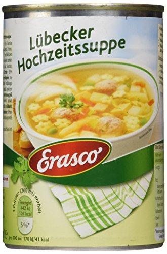 Erasco Lübecker Hochzeitssuppe , 3er Pack (3 x 390 ml Dose)