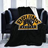 Linsanlingqi Bos-Ton Fire - Bru-Ins Warm and Ultra-Soft Micro Fleece Blanket Fashion Novelty 3D Design Throw Blanket Multi-Style for All Living Room Bedroom Sofa Chair Couch and Bed