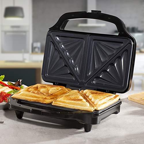 Cuisine King Presse à panini électrique et à sandwich gourmet en acier inoxydable avec revêtement anti-adhésif