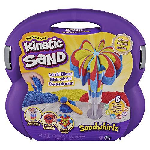 Kinetic Sand - Set Valigetta Cascate Arcobaleno - 907Gr di Sabbia in 3 Colori e 10 Accessori, dai 3 Anni - 6055859