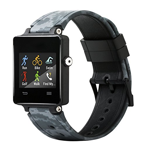 Honecumi - Correa de repuesto de silicona para reloj de pulsera inteligente Garmin Vivoactive, talla única