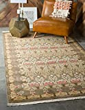 Unique Loom Edinburgh Collection Oriental Traditional French Country Brown Area Rug (8' 0 x 10' 0)