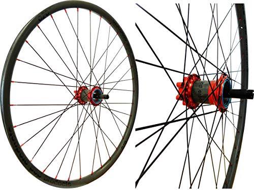 POP-PRODUCTS - Rueda trasera (622/29', CC Disk, 32 orificios, CX-RAY UD-carbón, aprox. 0,673 kg), color rojo