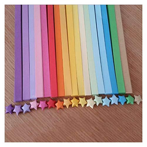 80pcs / Lote Origami Star Star Papel cómics artesanía de Papel Que desee Material de Estrella de la Estrella Papel Decorativo de Papel de Colorido 18 Colores (Kleur : Random Color)
