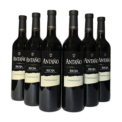 Six Pack Vino Antaño Tempranillo 750 ml.