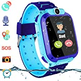 Kids Waterproof Smart Watch, Touch Screen Smartwatch for Boys Girls Students LBS Locator