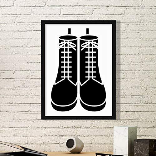 DIYthinker Heren Hoge Laarzen Patroon Silhouette Eenvoudige Fotolijst Kunst Prints Schilderijen Thuis Muursticker Gift
