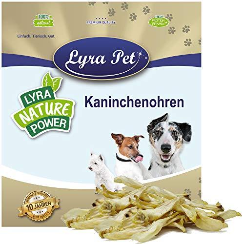 Lyra Pet 1 kg Kaninchenohren Hasenohren luftgetrocknet Kauartikel Hundefutter