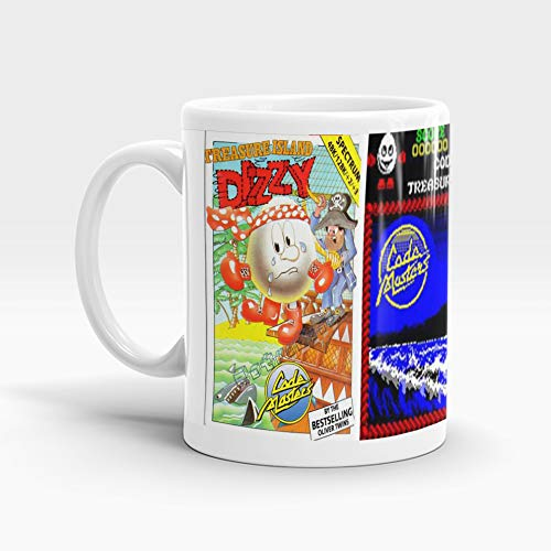 * NEW * Treasure Island Dizzy ZX Spectrum Game Mug featuring game screen and box art