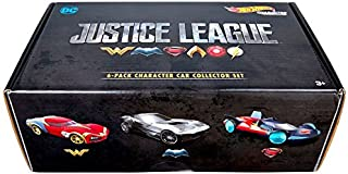 Hot Wheels DC Justice League Vehicles, 6 pack Character Set