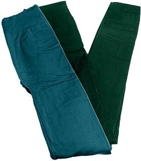 Anemone Women's Cozy Winter Fleece Lined Seamless Leggings One Size Black 2 Pk Evergreen/Teal One Size