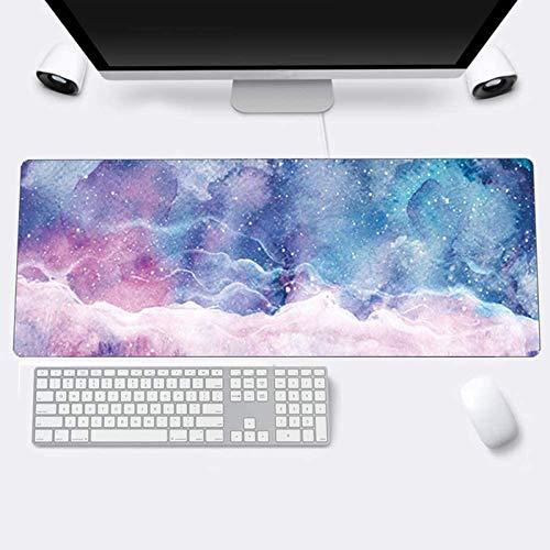 Alfombrilla de Ratón Gaming Grandes Tapete escritorio Mouse Pad XXL,Impermeable con Base de Goma Antideslizante,Special-textured Superficie para Gamers Ordenador, PC y Laptop-800x300x3 mm