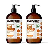Everyone 3-in-1 Soap, Body Wash, Bubble Bath, Shampoo, 32 Ounce (Pack of 2), Cedar and Citrus, Coconut Cleanser with Organic Plant Extracts and Pure Essential Oils (Packaging May Vary)