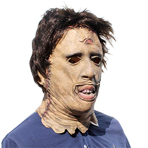 George Bogle Halloween Novelty Mask Scary Halloween Costume Mask Cosplay Party Props Mask Creepy Latex Head Mask for Men (Texas Chainsaw Massacre), Large