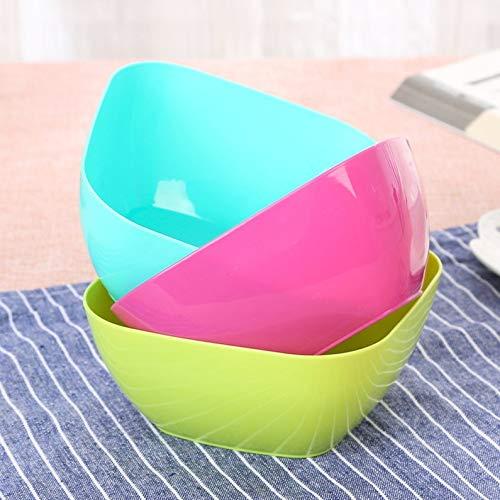 ukYukiko - Frutero cuadrado de plástico para sala de estar
