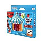 Maped Color'Peps Wax Jumbo Crayons Set - Pack of 24 Shades
