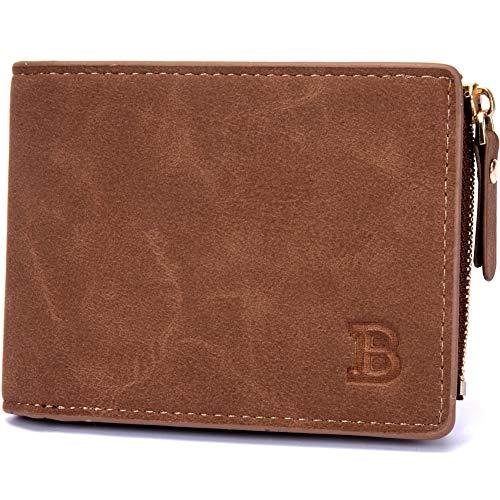 Bolsa Vintage Billetera for Hombres Billetera Monedero Dólar Paquete Crossbody Bolsa (Color : Brown, Size : S)