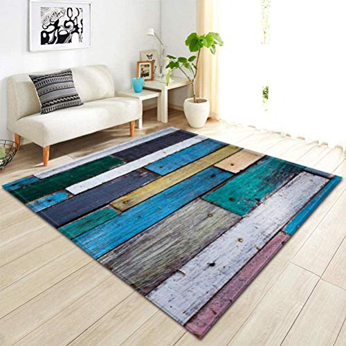 QYDF Home Carpets Design Abstract Modern Living Carpet, carpets Living 3D Short haired slip Washable,Blue,80x120cm