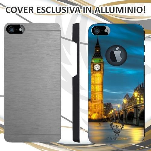 Custodia Cover Case Big Ben London per iPhone 5 5S in Alluminio