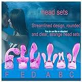 Cordless Mini Massage Wand Body Silicone Headgears Massager Tools Accessories for Women (Purple)