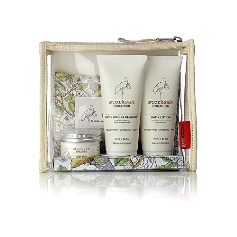 連続した化合物神社[Storksak] Storksakの有機物はほとんど旅行ギフトセット - Storksak Organics Little Traveller Gift Set [並行輸入品]