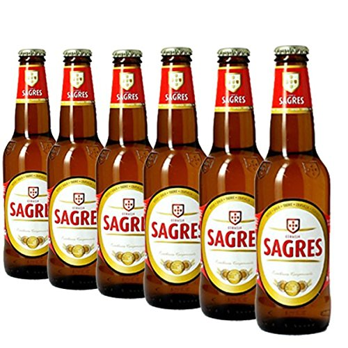Sagres 6x0,33l - Bierpaket mit 6 Flaschen - Lagerbier aus Portugal