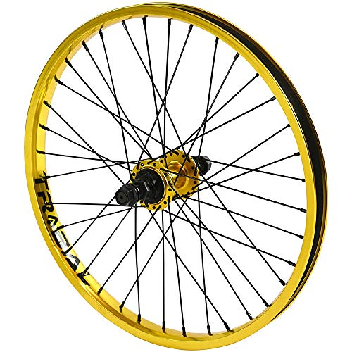 Tribal BMX - Rueda trasera para bicicleta (9T, 50,8 cm, 5 colores), dorado