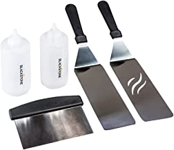 Blackstone. Signature Griddle Accessories - 5 Piece Professional Grade Grill Griddle BBQ Tool Kit with FREE Recipe Book - ...