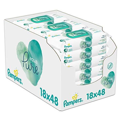 Pampers 81691061 - Aquapure Toallitas Húmedas 18 Embalaje = 864 Toallitas Húmedas