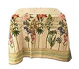 ALAMBRA - Juego de mantel de algodón Panamá de preciosa impresión floral con servilletas, 6 plazas para 12 plazas (color 4, 6 plazas)
