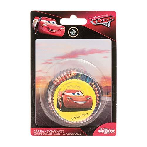 Dekora 339251 Disney Cars Muffins Backformen Set-50 Stück, Papier
