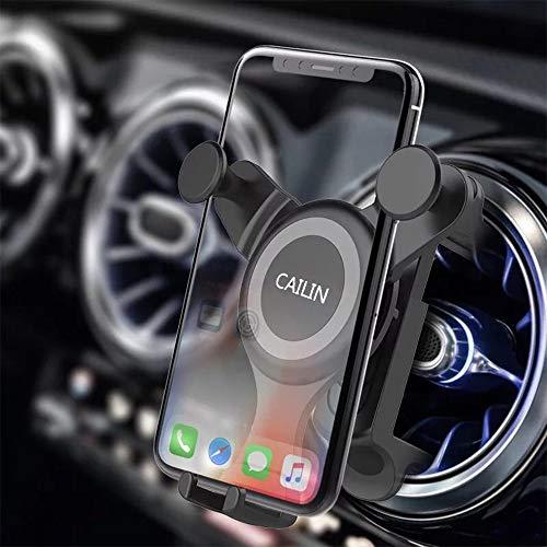 Cailin Soporte para teléfono móvil ventilado Circular para Coche Gravedad automática Ajustable para Mercedes Benz A B C E Sclass