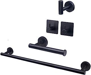 """TocTen 5 Piece Bathroom Hardware Set SUS304 Thicken Stainless Steel-Towel Rack Set Include 16"""" Hand Towel Bar+Toilet Paper..."""