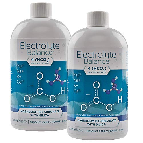 Electrolyte Supplement by LivePristine  Electrolyte Supplement with Magnesium Bicarbonate and Silica  for replenishing Critical nutrients and Calcium Assimilation  1 Month Supply (2 Bottles)