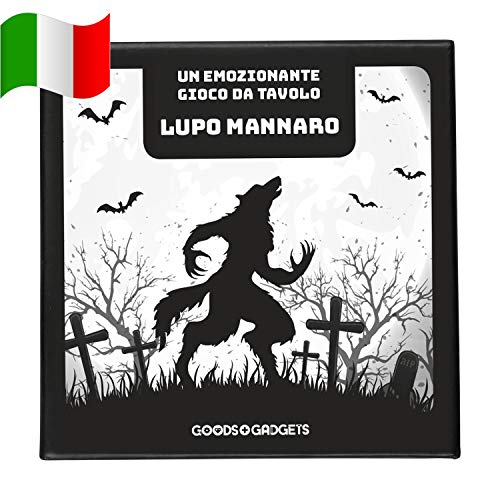 GOODS+GADGETS Gioco di Carte Originale del Lupo Mannaro Deluxe Party Game con espansione - Werewolves Role Playing Game Classic - Edizione da 45 Carte con 30 Personaggi Diversi! (Italiano)