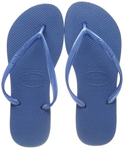 Havaianas Slim Chanclas Mujer, Azul (Blue), 41/42 EU