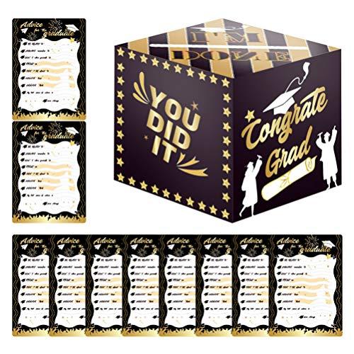 PRETYZOOM Afstuderen Dozen Snoep Doctoraal Cap Vormige Gift Box Zwart Graduation Celebration Treat Candy Chocolade Met Geel Kwastje Voor Graduation Ceremony Party