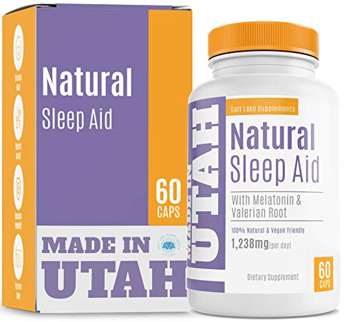 Natural Sleep Aid Formula Combines Melatonin, Valerian Root & Non-Addictive Extracts Into The Best 100% Safe Sleeping Pill to Get a Full Night's Rest