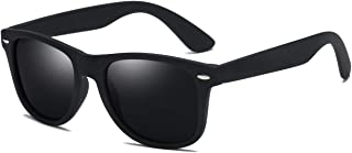 3af8e782e30a SIKYGEUM Polarized Sunglasses for Men Women Retro Square Black HD Vision  UV400