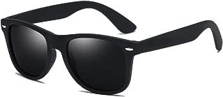 Polarized Sunglasses for Men Women Retro Square Black HD Vision UV400